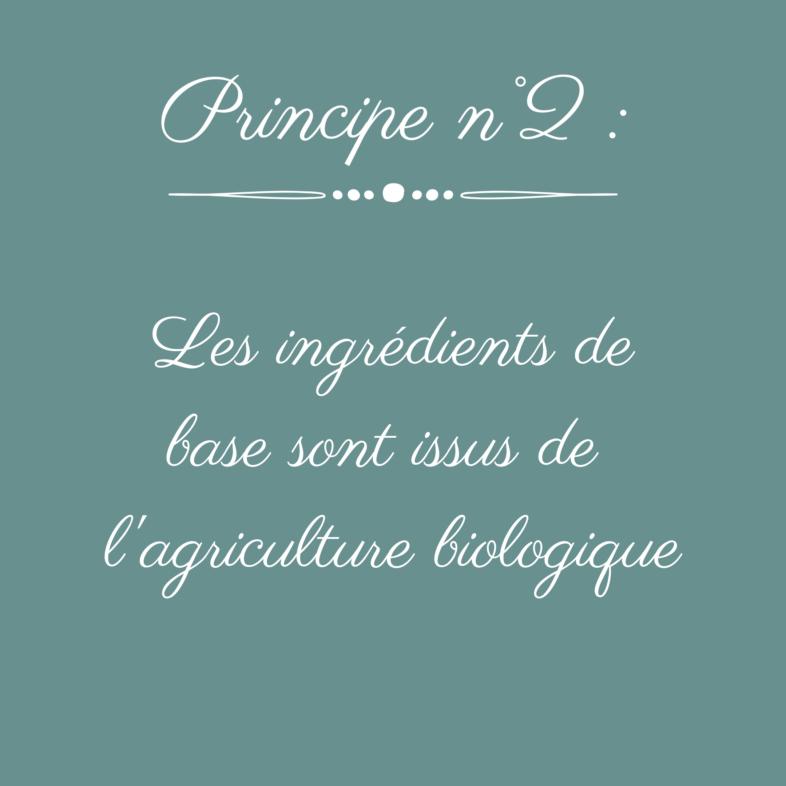 ingrédients biologiques